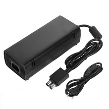 Mini Sealed AC Brick Adapter Power Supply for Microsoft for Xbox 360 Slim With Charger Cable 135W Universal 110-220V Wide Voltag for xbox 360 slim ac adapter power supply brick power supply 135w power supply charger cord for xbox 360 slim console 100 120v