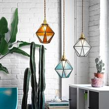 цены American Modern Pendant Lights vintage Glass Hanging Lamp Art De Living Room Lighting Dining Room Cafe Bedroom Loft pendant lamp