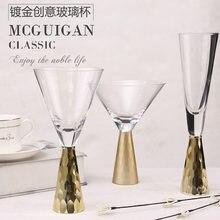 Светильник, роскошное покрытие, золотой стеклянный Кубок, десертная чашка, коктейльное стекло, бокал шампанского, модель банкета, украшение...