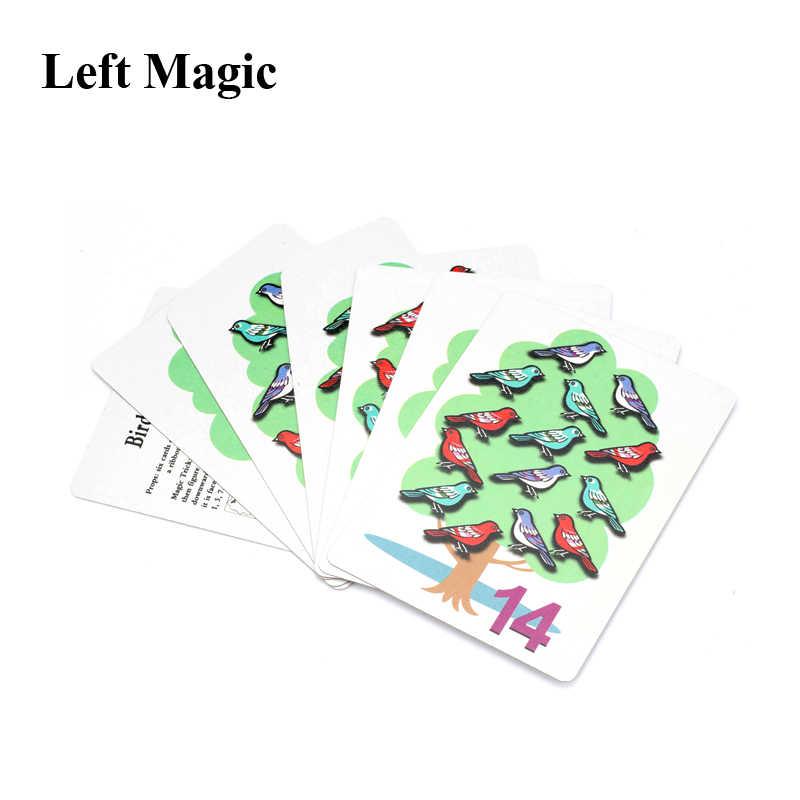 1 قطعة العد الطيور بطاقة Piaying بطاقة بوكر الخدع السحرية قرب المرحلة الدعائم الوهم ثانوي يتوهم Mentalism الاطفال الساحر c2077