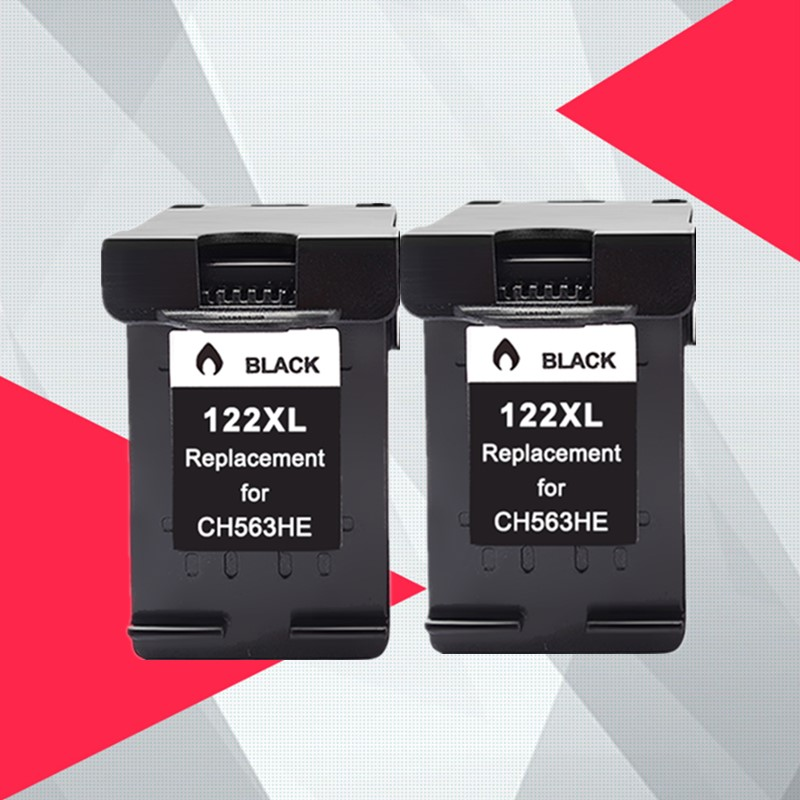 2 Black Compatible 122XL Ink Cartridge for hp122 for HP 122 Deskjet 1000 1050 2000 2050s 3000 3050A 3052A 3054 1010 1510 2540