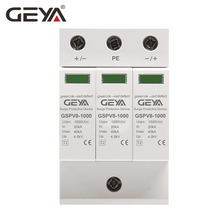 Free Shipping GEYA PV SPD 2P 3P 600V 1000V DC Surge Protector 500V