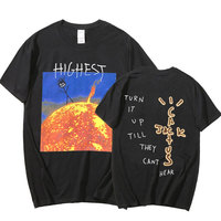 T-shirt Astroworld Travis Scott Harajuku T-shirt stampata 2021 T-shirt manica corta estiva da uomo Pure Loose Top Oversize