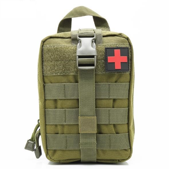 Outdoor Camouflage Tactical Knapsack Multifunctional Waterproof Fan First Aid Kit MOLLE Accessory Sport Kit