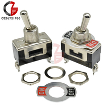 29--14.7mm Contactor Toggle-Switch E-TEN Black 2pin for Car-Speaker PC On-Off Lifespan