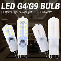 Lámpara LED G9 Bombilla Led G4 3W 5W Bombilla de maíz 2835SMD Bombilla LED Bombilla g9 lámpara regulable luz de vela reemplazar lámpara halógena
