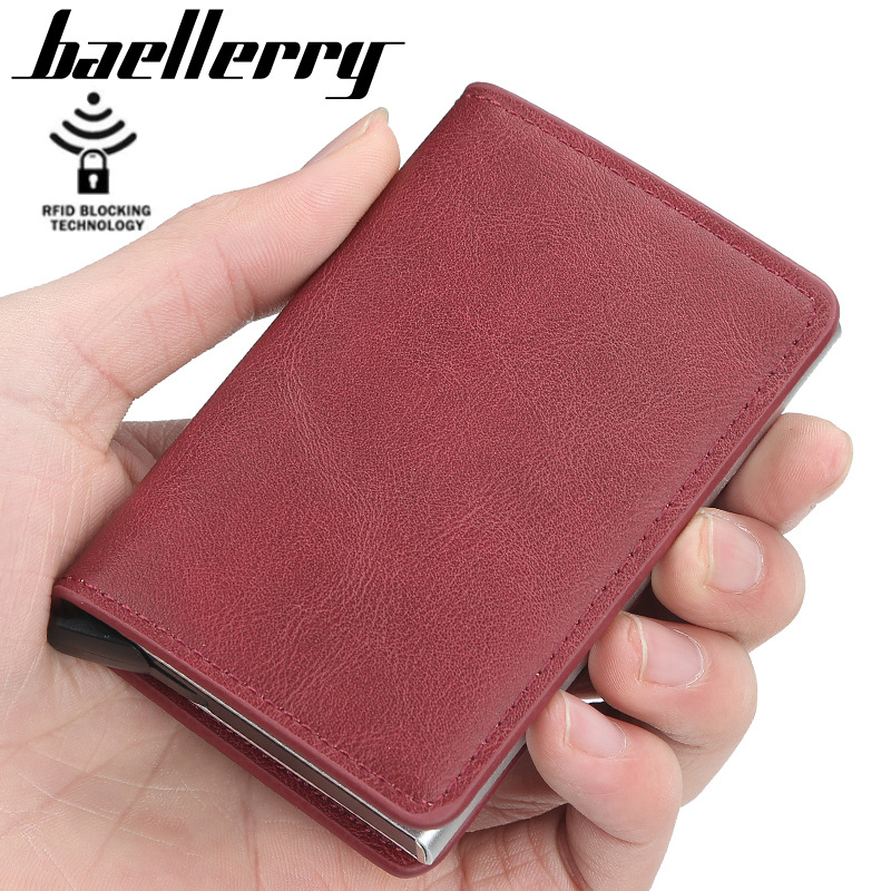 top 2020 new Men Wallets Quality Rfid Card Holder RFID Male Vintage Short Purse Small Leather Slim Wallets Mini Wallets