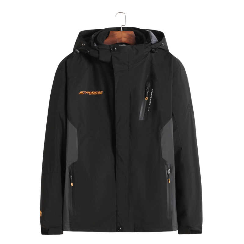 Nieuwe Plus Size 8XL 7XL Winter Jas Mannen Katoenen Parka Warm 2 In 1 Waterdicht Winddicht Afneembare Kap Winter jas Grote Grote