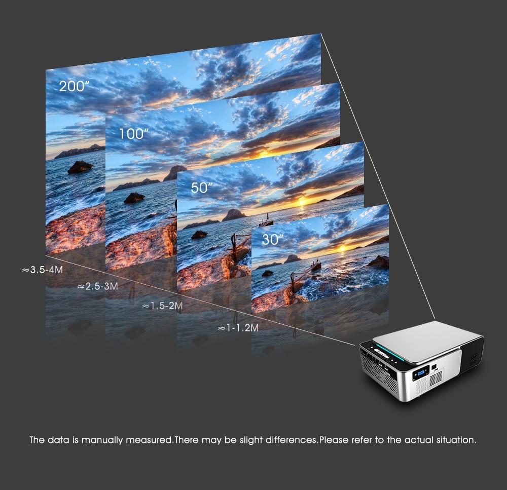 Alston t6 hd completo projetor led 4k 3500 lumens hdmi usb 1080p portátil cinema proyector beamer com presente misterioso-4