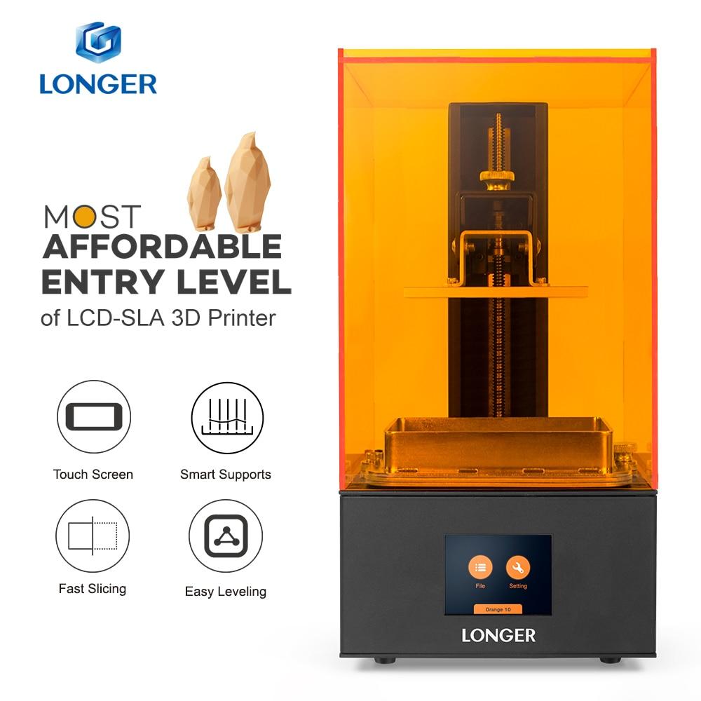 LONGER Orange10 3D プリンタ手頃な価格 SLA 3D 印刷スマートサポート高速スライス UV ライト硬化簡単操作エントリレベル -