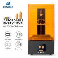 LONGER Orange10 3D Stampante A Prezzi Accessibili SLA 3D Stampa di Sostegno Intelligente Veloce Per Affettare Luce UV Che Cura Facile Operare Entry Level