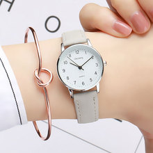 New Simple Small Fashion Quartz Watch Exquisite Women Clock Popular Brand Casual Leather Watches Retro Ladies Wristwatch