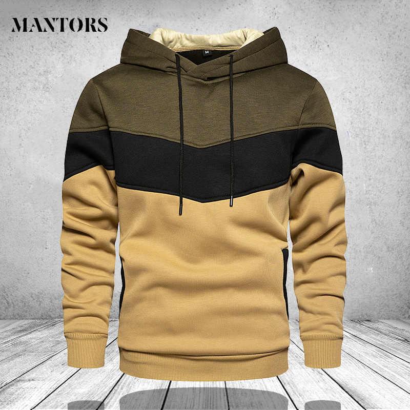 Mannen Hoodies Sweatshirts Patchwork 2020 Herfst Casual Hoodie Mannelijke Dikke Hoodies Hip Hop Streetwear Hoodie Mannen Kleding