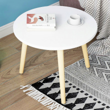 Simple Small Coffee Table Creative Round Living Room Tea Table Modern Cute Beside Table for Home Furniture