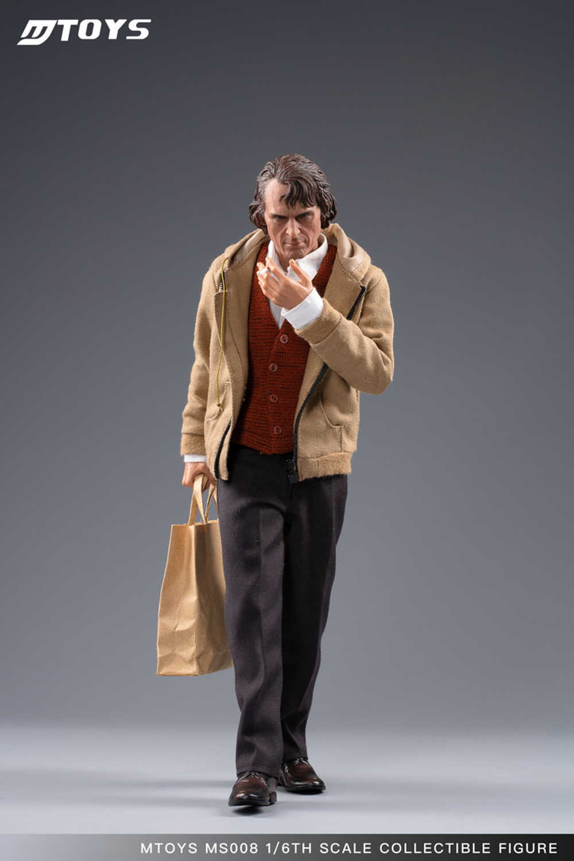 """Full Set Di Saham Mtoys MS008 1/6 Clownthe Joker Arthur Fleck Joaquin Pakaian Santai Ver. Gambar Mainan 12 """"Gambar Tubuh Model Mainan"""