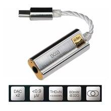 Amplificatore per cuffie Adattatore per iBasso DC01 DC03 DAC USB per Android PC ipad 2.5 millimetri 3.5 millimetri HiFi Noleggi di Cavo tipo di adattatore C