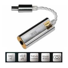 เครื่องขยายเสียงหูฟังอะแดปเตอร์สำหรับIBasso DC01 DC03 USB DACสำหรับAndroid PC Ipad 2.5มม.3.5มม.HiFi HiResสายอะแดปเตอร์Type C