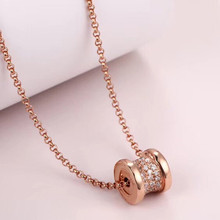 Diana high quality fit Bulgaria S925 sterling silver necklace brand design ladies fashion luxury jewelry birthday party gift diana high quality for bulgaria s925 sterling silver necklace rotating round cake shape brand design ladies fashion jewelry