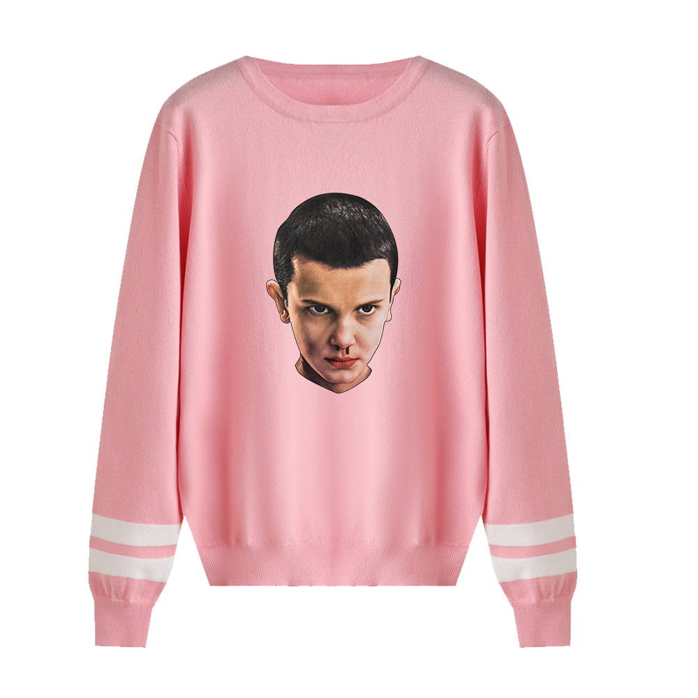 Stranger Things Capless Hoody Men/women Autumn Winter Hot New Fashion Pink Long Sleeve Warm Casual Knitted Casual Sweater Tops