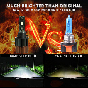 Image 2 - Cnsunnylight Plug Play H15 Auto Led Koplamp Bollen Canbus 12000Lm 6000K Dagrijverlichting Drls Vervangen Voor Ford Edge/Explorer