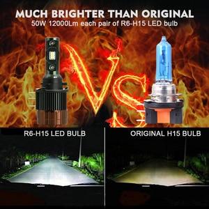 Image 2 - Cnsunnylight plug play h15 carro led farol lâmpadas canbus 12000lm 6000 k dia running luzes drls substituir para ford edge/explorer