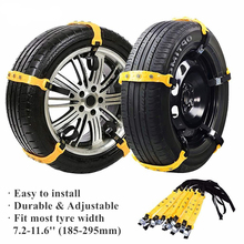 5/10 Pcs Anti-Skid Anti Slip Emergency Car Snow Tire Chains Portable Emergency Traction Snow Mud Chains for SUV Cars Accessories