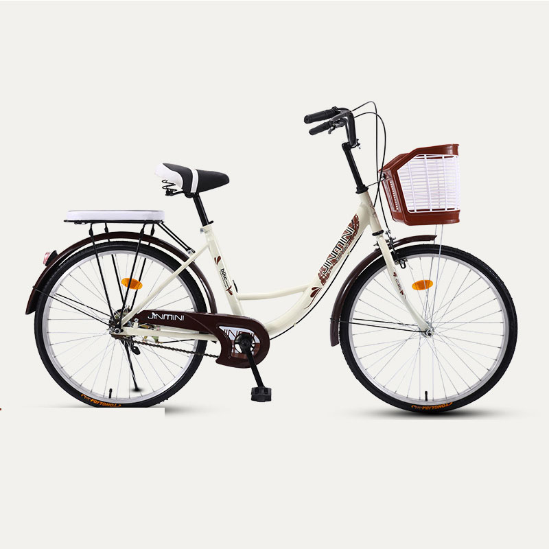 Bicycle 24 Inch Commuter City Bike Retro Lady Students grils Leisure Light Colorful Car 2019 New Safer image