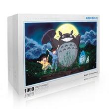 Wooden Puzzles Totoro Kids 1000pcs Educational-Toys Landscape Adult for 70x50cm/Kids/Adult