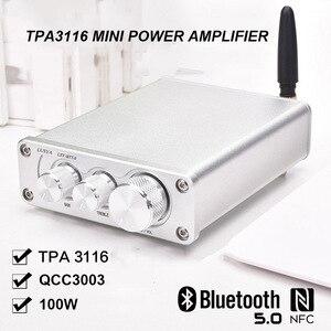 Image 5 - Lusya AMPLIFICADOR DE POTENCIA HiFi QCC3003, Bluetooth 5,0, 50W x 2, estéreo, TPA3116, amplificador de Audio en casa con I4 005 6 de ajuste de graves agudos