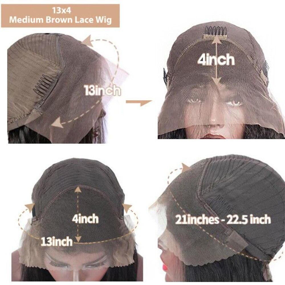 peruca da onda do corpo 13x4 peruca