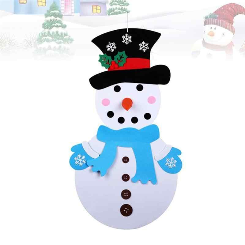 Conjunto 1 Sentiu Árvore De Natal Do Boneco de neve Infantil Artesanal Enigma DIY Sentiu Conjunto Com Acessórios Para Enfeites de Natal Do Boneco de neve Pingente
