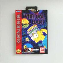 Virtual Bart Usa Cover Met Doos 16 Bit Md Game Card Voor Sega Megadrive Genesis Video Game Console