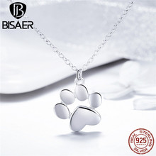 largerlof animal necklace 925 sterling silver gate penguin short snake chain pendant on line nk37047 Pet Footprint Silver Necklace For Girl 100% Pure 925 Sterling Silver Cute Cat Animal Paw Chain Pendant Necklace Girl Gift GXN275