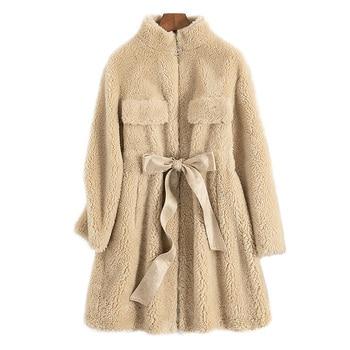 Abrigo de invierno para Mujer, ropa de otoño, Abrigo de piel Real...