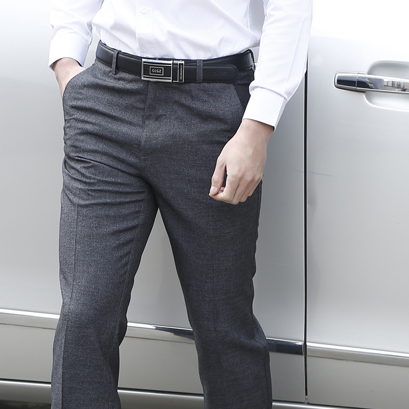 Thoshine Brand Men Suit Pants Formal Business Trousers Elastic Straight Fit Style Male Smart Casual Long Pants Plus Size