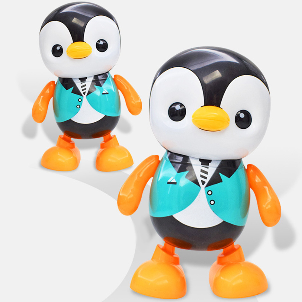 Doolland Lovely Dancing Penguin Electric Toy Portable Home Cute Singing Colorful Funny Plastic Round Edge Kids Gift For Children