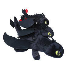 New 35/60 Cm Toothless How To Train Your Dragon Character Animation Night Fury Light Toy Childrens Toys