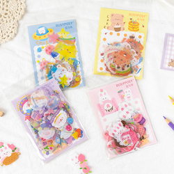 40 pcs/lot Cute planet rabbit bear Decorative Stickers Scrapbooking Stick Label Diary Stationery Album Kawaii Party dog sticker
