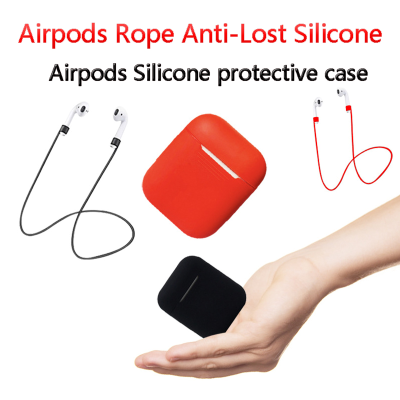 For Bluetooth Wireless Earphone Cases Skin Airpods Mini Headset Loop String Rope Anti-Lost Silicone Cables Earphone Accessories