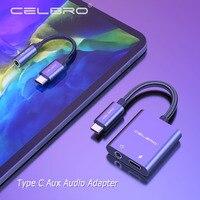 2 In 1 Usb Typ C Aux Audio Splitter Typ-c Zu 3,5mm Jack Headset Adapter Mit Ladegerät für Ipad Pro Samsung Hinweis 20 Ultra s21 5g