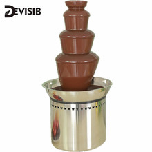 NEW! 60cm 4 Tier Commercial Chocolate Fountain Stainless Steel Auger Wedding Event Party Supplies + Free  Shipping