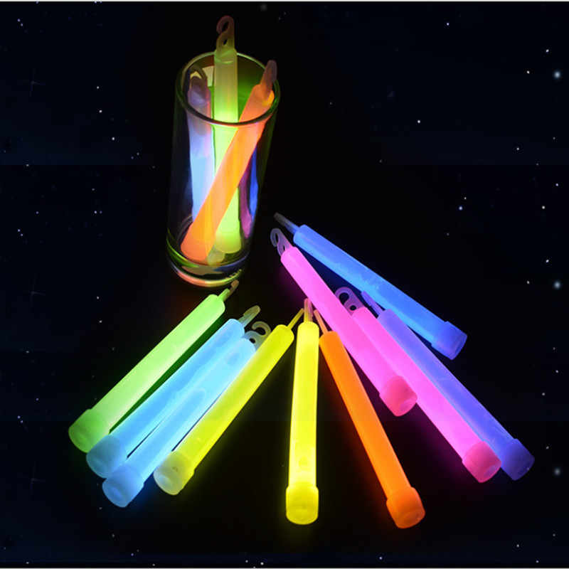 15CM Industrial Grade Glow Sticks Party Glowstick Chemical Fluorescent Halloween Hanging Decoraction Camping Emergency Lights