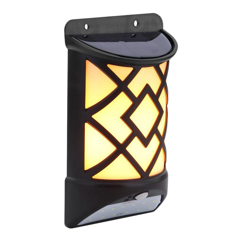 ABSS 12 Led Solar Flame Wall Light Derlights Motion Sensor Light Outdoor Waterproof Solar Flame Lamp For Garden Pathway Yard LED Lawn Lamps     - title=