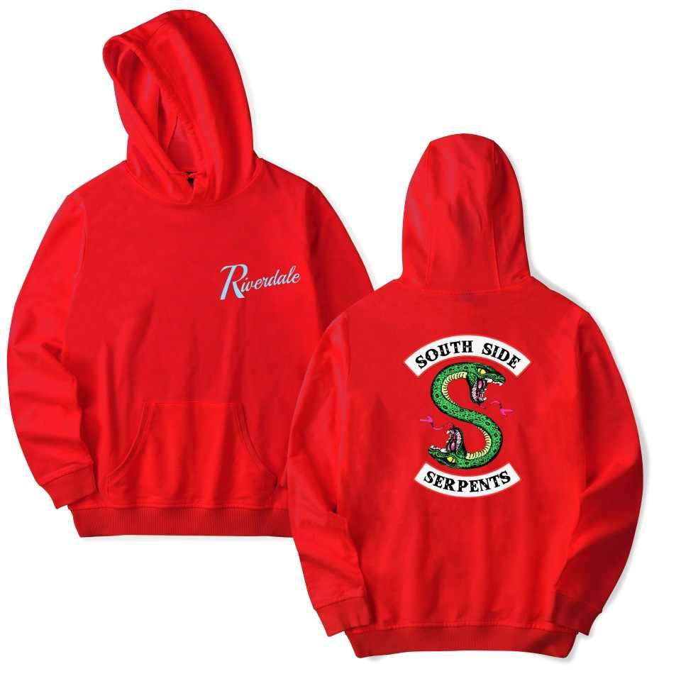 Women/Men American Riverdale Southside Serpents Hoodies Sweatshirts South Side Ladies 1 Sweatshirt Hip-hop Popular Clothing Top