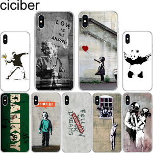 ciciber Banksy Albert palestine Street Art soft TPU case cover For iPhone 11 Pro Max 6 6S 7 8 plus 5S SE X XS Max XR Coque Funda(China)