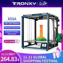 2020 Tronxy X5SA 24V طابعة جديدة ثلاثية الأبعاد مطورة لتقوم بها بنفسك مجموعات لوحة بناء معدنية 3.5 بوصة LCD تعمل باللمس عالية الدقة التسوية التلقائية