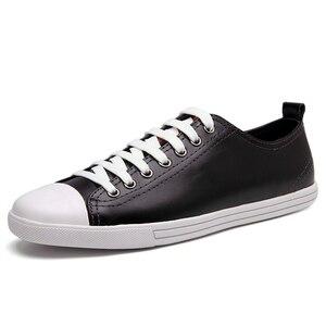 Image 2 - Мужские кожаные лоферы, черные повседневные туфли из натуральной кожи, размеры 38 46, для осени