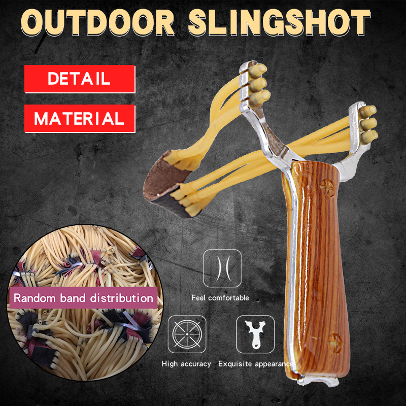 Big Power Alloy Slingshot Professional Catapult Traditional Hunting Accessories Outdoor Shooting Practice Fast Bow GameToy Gift