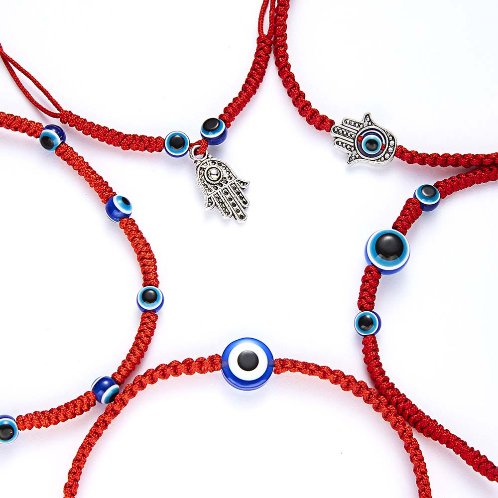 1 Pcs Braided Red Thread Bracelets For Women Men Turkish Evil Eye Beads Lucky Red String Woven Bracelet Jewelry Fashion Gifts