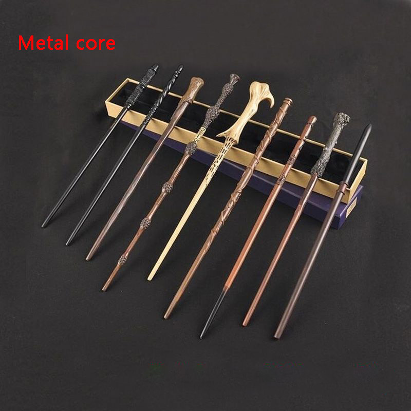 10 Kinds Of Harry Wands Colsplay Metal/Iron Core Dumbledore Magical Wand Varinhas Kid Magic Wand No Box With Gift Harry Prop